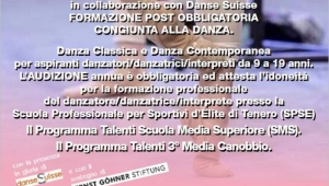 Audizione Danse Suisse Talent Classes 2018